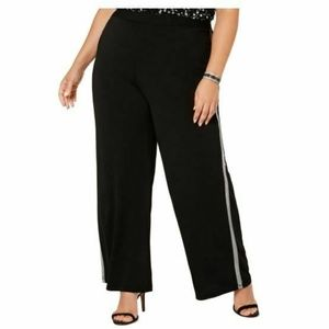 NY Collection 2XP Black Metallic Pants 5AN31